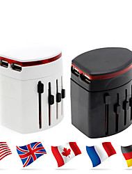 cheap -WAZA® Universal Travel Adapter 4.8A 2 USB Charging Ports Worldwide All in One Universal Plug Converter Wall Charger