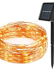 cheap -LED Solar String 8mode Fairy Light Christmas Lights 12m 100LED Copper Wire Wedding Party Decor Lamp