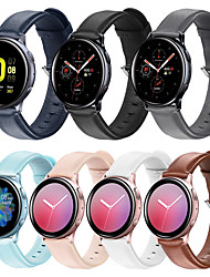 cheap -HOT Genuine Leather Strap For Samsung Galaxy Watch Active 2/Galaxy Watch 42mm/Galaxy Watch Active Band Smart Watchband Bracelet Band Quick Fit Belt