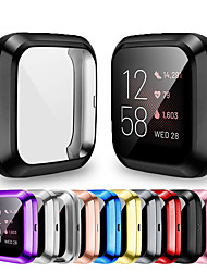 cheap -Soft Plating TPU Protective Clear Watch Case For Fitbit Versa 2 Case Cover Shell Screen Protector