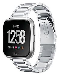 cheap -Watch Band for Fitbit Versa / Fitbit Versa Lite / Fitbit  Versa 2 Fitbit Jewelry Design Stainless Steel Wrist Strap
