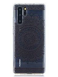 cheap -Case For Huawei Huawei P30 / Huawei P30 Pro / Huawei P30 Lite Pattern Back Cover Flower TPU
