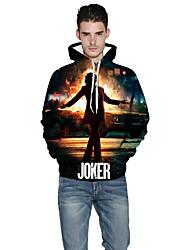 cheap -Inspired by Burlesque Clown Joker Hoodie Polyster Fashion Hoodie For Men's