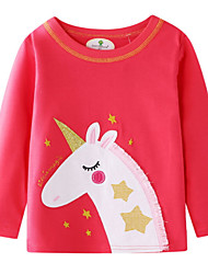 cheap -Kids Girls' Basic Print Long Sleeve Sweater & Cardigan Red