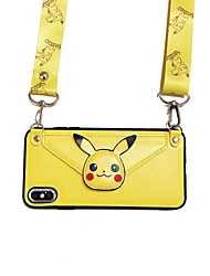 cheap -Mobile Phone Shell Wallet one Oblique  Apple 11 Pro Max Coin Purse Protective Cover 11pro Backpack Type 11 Cartoon XS Max Hanging Neck Lanyard XR tide 6/7/8P