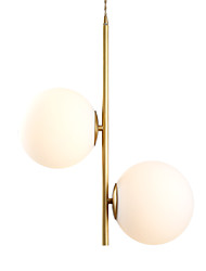 cheap -CXYlight 2-Light 20 cm Pendant Light Copper Glass Island Modern / Nordic Style Generic