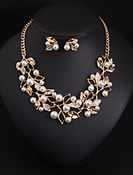 cheap -Women's Crystal Bridal Jewelry Sets Classic Flower Vintage Earrings Jewelry Gold / Silver For Wedding Party 1 set