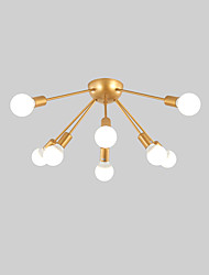 cheap -8-Light 8-Head Nordic Style Tieyi Flush Mount Ceiling Light Modern Vintage Living Room Dining Room Bedroom Ceiling lights Painted Finish