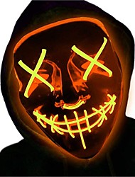 cheap -LED Light Up Party Mask The Purge Election Year Great Funny Mask for Cosplay Party Night Party Costume Dress Up