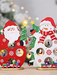 cheap -Christmas Tree Santa  Claus Snowman DIY Wooden  New Year Ornament Party