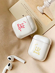 cheap -Case For Apple airpods case Cute King Queen Couple Wireless Bluetooth Earphone Case For Airpods Headphone Hard Protective Case