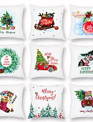 cheap -Christmas Wreath Gift Socks Gifts Peach Cashmere Pillow Summer Lightweight Sofa Pillowcase Home Decor