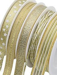 Недорогие -праздничные украшения новогодние / рождественские украшения рождественские украшения декоративное золото 5шт