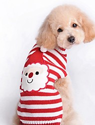 cheap -Dog Sweatshirt Reindeer Christmas Winter Dog Clothes Puppy Clothes Dog Outfits Red Costume for Girl and Boy Dog Terylene XS S M L XL