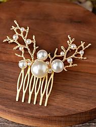 cheap -Alloy Hair Combs / Hair Accessory with Pearls 1 Piece Wedding Headpiece
