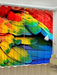 cheap -Color Feather Digital Printing 3D Curtain Shading Curtain High Precision Black Silk Fabric High Quality Curtain