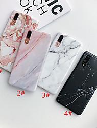 abordables -Coque Pour Huawei Huawei P20 / Huawei P20 Pro / Huawei P30 IMD / Dépoli / Motif Coque Marbre TPU