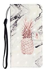 Недорогие -Кейс для Назначение SSamsung Galaxy S9 / S9 Plus / S8 Plus Кошелек / Бумажник для карт / Защита от удара Чехол Продукты питания Кожа PU