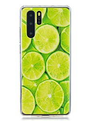 cheap -Case For Huawei Huawei P30 / Huawei P30 Pro / Huawei P30 Lite Pattern Back Cover Food TPU