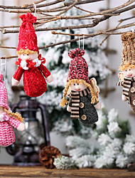 cheap -Holiday Decorations New Year's Christmas Trees / Christmas Ornaments Party Red / Pink / Gray 1pc