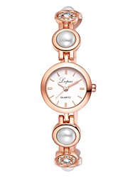 Недорогие -Жен. Часы-браслет Жемчуг На каждый день Бабочка Серебристый металл Розовое золото Искусственная кожа Китайский Кварцевый Черный Розовое Золото Серебряный Новый дизайн Повседневные часы 1 ед.