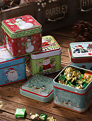 cheap -Candy Box Storage Tin  Christmas Gifts Tinplate  Storage Box Cookie Box