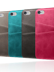 cheap -Case For Apple iPhone XR / iPhone XS Max Shockproof Back Cover Solid Colored Soft TPU / PU Leather for iPhone 5/5E/5S/6 / iPhone 6 Plus / 7/ 7PIUS /8 /8PIUS /X /XS