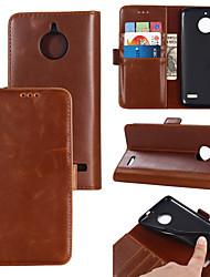 cheap -Case For Motorola MOTO G6 / Moto G6 Plus / Moto E4 Plus Wallet / Card Holder / Flip Full Body Cases Solid Colored PU Leather / TPU
