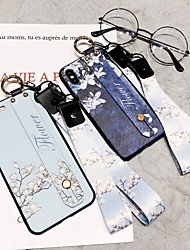 cheap -Apple XS Max Mobile Phone Shell XR New White Magnolia Flower Wristband X Soft Shell With Lanyard 6/7/8P All-inclusive Anti-fall Personality Bracket