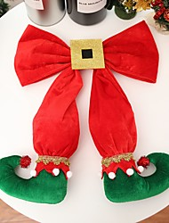 cheap -40x35cm 1pcs Elf Foot Christmas Tree Bow Elf Boots Hanging Hotel Atmosphere Design New Year Party Scene Arrangement