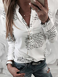 cheap -2019 New Arrival T-shirts Women's T-shirt - Letter V Neck White Camisas Mujer Chemise Femme XL