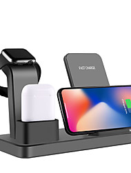 cheap -Wireless Charger 10W QI Multi-function 3 in 1 Quick Wireless Charger for Apple iPhone Watch Air Pods iPhone 12 11 11Pro Max Samsung S21 S20 S10 or Other Android Smart Phones Support Wireless Charge