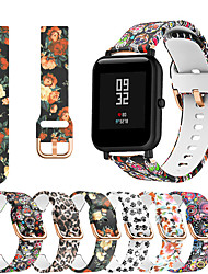 cheap -Printing Silicone Watch Band For Huami Amazfit Bip Youth / GTS / GTR 42mm Replaceable Bracelet Wrist Strap Wristband
