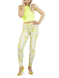 cheap -Women's Yoga Pants Fashion Green / Yellow Spandex Running Dance Fitness Tights Sport Activewear Breathable Quick Dry Butt Lift Tummy Control High Elasticity Skinny / Winter