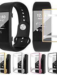 cheap -Soft Plating TPU Protective Clear Watch Case For Fitbit Charge 3 Case Cover Shell Screen Protector