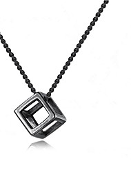 cheap -Men's Pendant Necklace Geometrical Flower Fashion Chrome Black Silver 55+5 cm Necklace Jewelry 1pc For Gift Daily