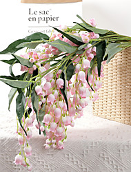 cheap -Artificial Wind Chime Flower Wedding Ceiling Hanging Bell Orchid Plant Wall Fake Flower