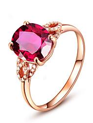Недорогие -Moonrocy CZ розово-красные хрустальные кольца розового золота цвет обручальное обручальное кольцо ювелирные изделия для женщин, девочек подарок прямая поставка оптом