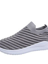 cheap -Women's Athletic Shoes Flat Heel Round Toe Sequin Tissage Volant Sporty / Classic Running Shoes / Walking Shoes Spring & Summer / Fall & Winter Black / Pink / Gray / Striped