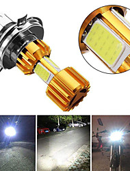 cheap -2pcs Motorbike H4 18W LED 3 COB Motorcycle Headlight Bulb 2000LM BA20D Beam Light Fog Light