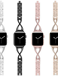 abordables -bracelet de montre pour apple watch series 5/4/3/2/1 apple design bijoux bracelet en acier inoxydable