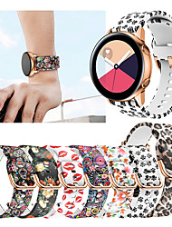 cheap -Printing Silicone Watch Band For Samsung Galaxy Watch Active 2 / Galaxy Watch 42mm / Gear Sport / Gear S2 Classic Replaceable Bracelet Wrist Strap Wristband