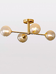 cheap -4-Light 66 cm Creative Flush Mount Lights Metal Glass Sputnik Brass Nordic Style 110-120V / 220-240V / G9