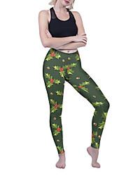 cheap -Women's Yoga Pants Fashion Forest Green Spandex Running Dance Fitness Tights Sport Activewear Breathable Quick Dry Butt Lift Tummy Control High Elasticity Skinny / Winter