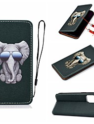 cheap -Case For Apple iPhone 11 / iPhone 11 Pro / iPhone 11 Pro Max Card Holder / with Stand / Flip Full Body Cases Animal PU Leather