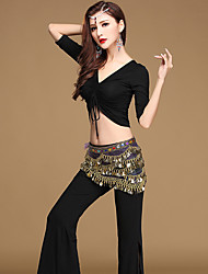 cheap -Belly Dance Outfits Women's Training / Performance Modal Bandage Half Sleeve Dropped Top