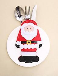 Недорогие -2шт Санта-Клаус набор столовых приборов рождественские украшения
