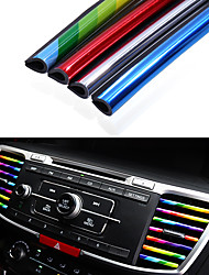 cheap -10pcs/pack Car Styling Mouldings Air Outlet Trim Strip Cars Decoration Strips Chrome Auto Air Vent Grilles Rim Trim Car Accessories