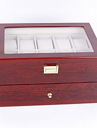 cheap -Watch Box Organizer 20 Slots Watch Case Men Display Storage Case