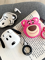 cheap -For Air Pods 2 Cute Toy Story Lotso Bear Dogs Silicone Cartoon Earphone Cases For Apple Airpods Wireless Bluetooth Headset Cover